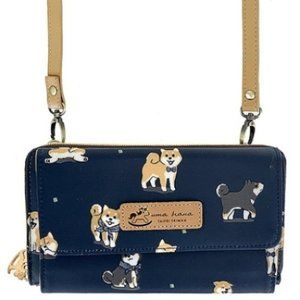 Waterproof Shiba Crossbody Shoulder Clutch Wallet